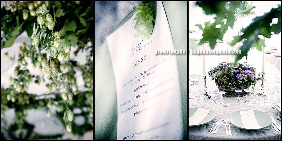 green wedding  decoratons