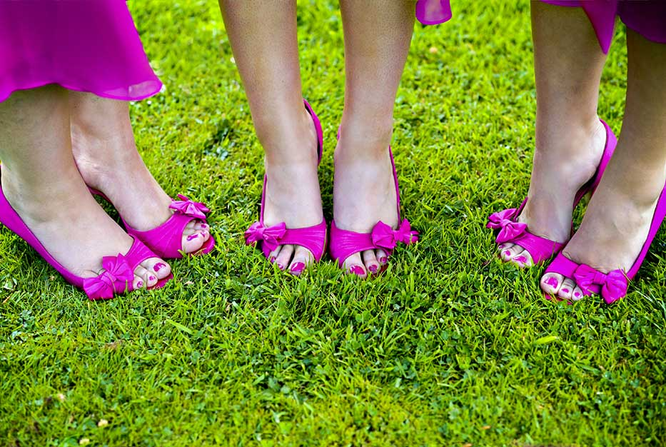Pink wedding shoes
