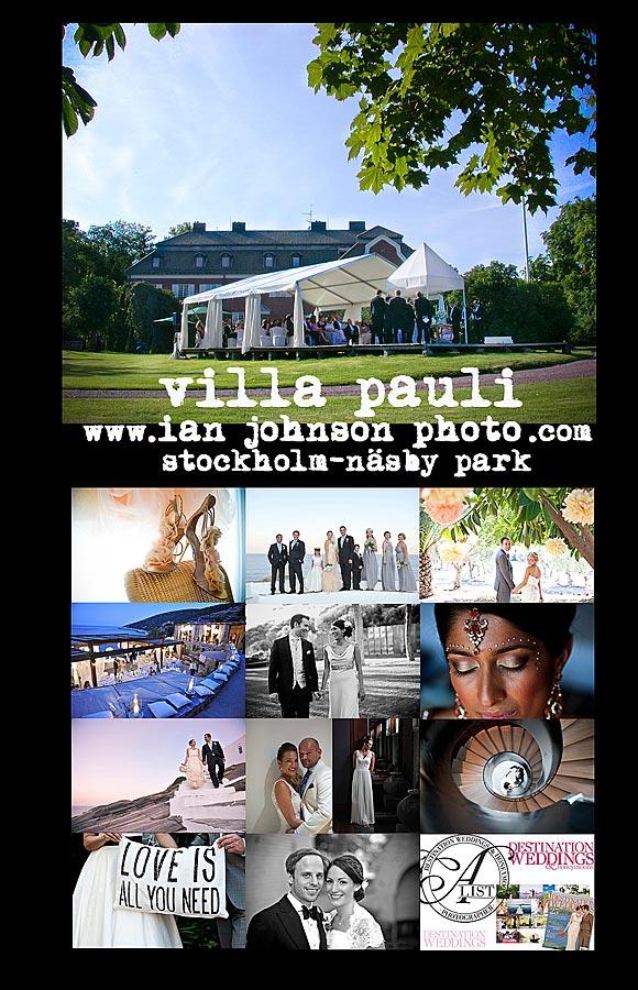 Bröllop Villa Pauli Djursholm Stockholm Sweden