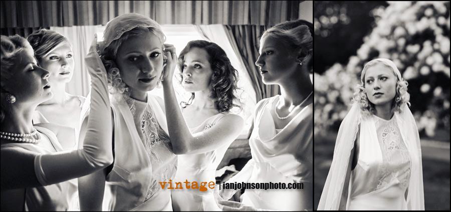 Bröllops trenderna vintage brudklänningarna