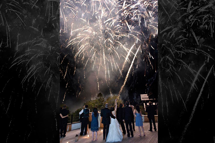 fireworks weddings
