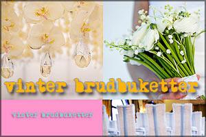 vinter bröllop brudbukett