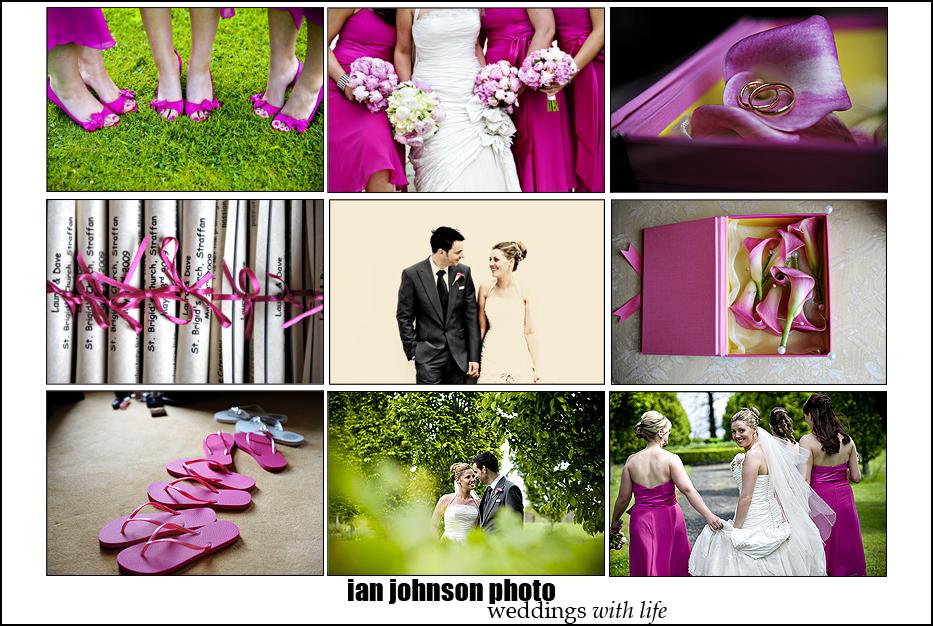 Pink wedding details
